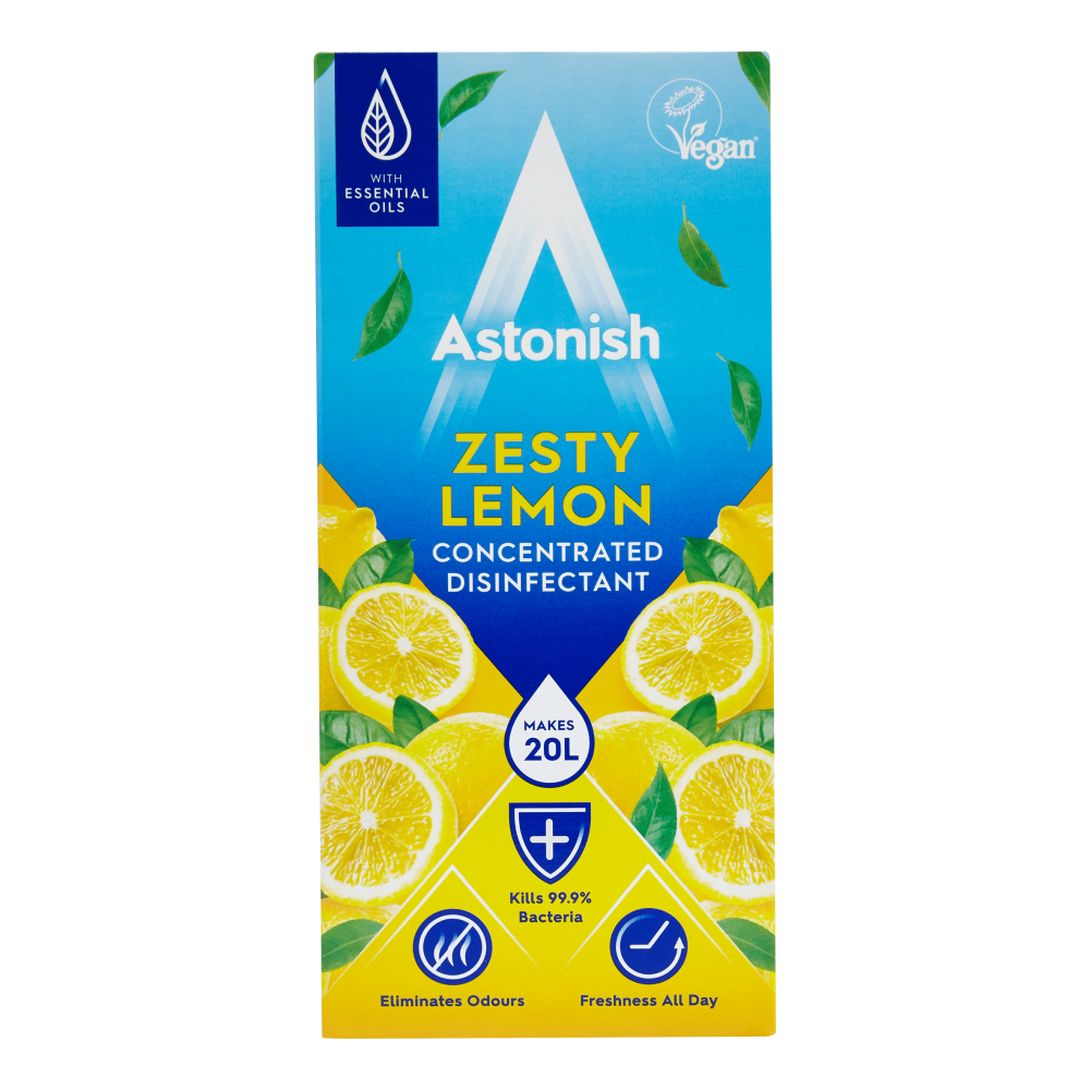 Astonish ΥπερΣυμπυκνωμένο Απολυμαντικό Άρωμα Λεμόνι 500ml